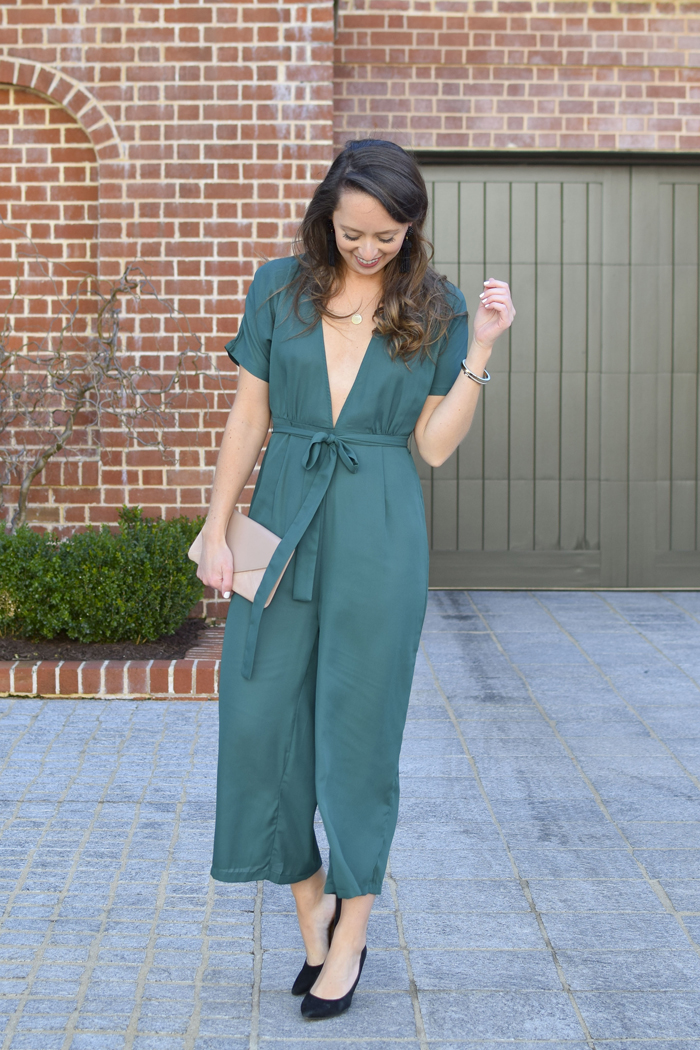 2ea38aba7f3a Southern Anchors   emerald green amazon jumpsuit