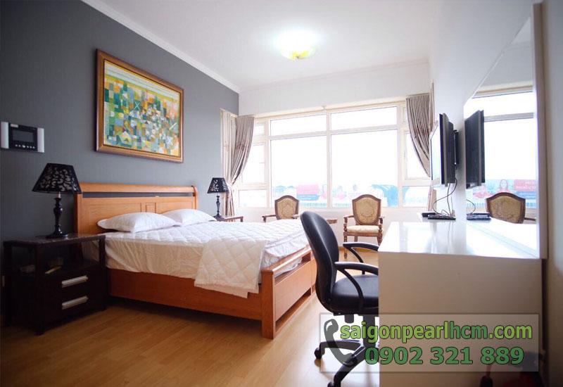 Cho thuê căn hộ Saigon Pearl 86m2 - phòng ngủ view sông sg