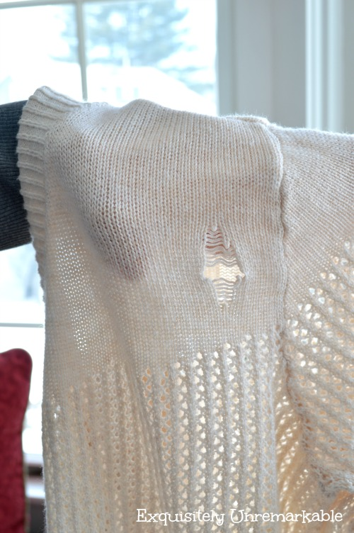 Fixing A Crocheted Sweater