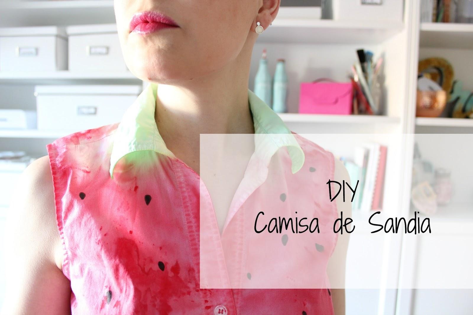 DIY Camisa de Sandia - Decoracion.red