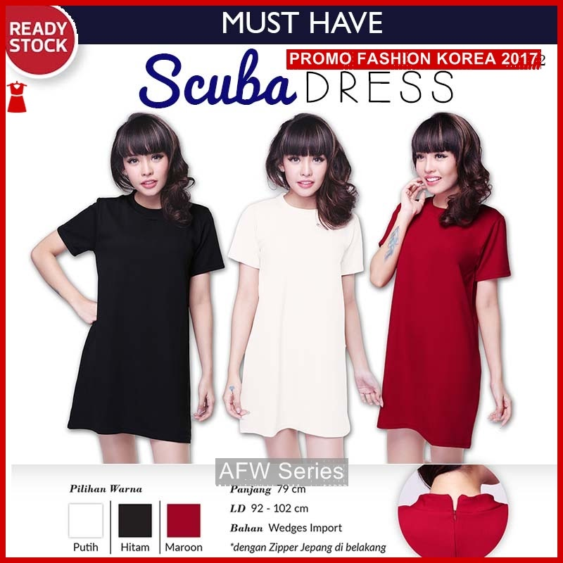 BAMFGW055 Scuba Dress DS782 Wanita PROMO BMG
