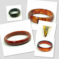 different types of bakelite jewelry