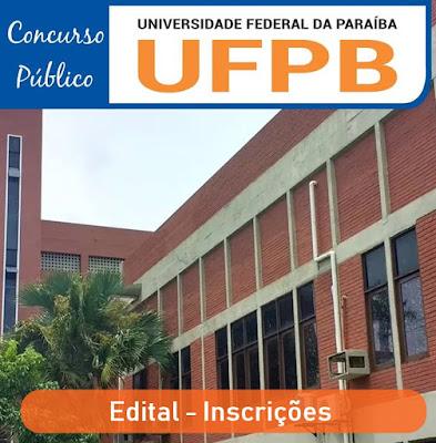 Inscrições Concurso UFPB - Edital