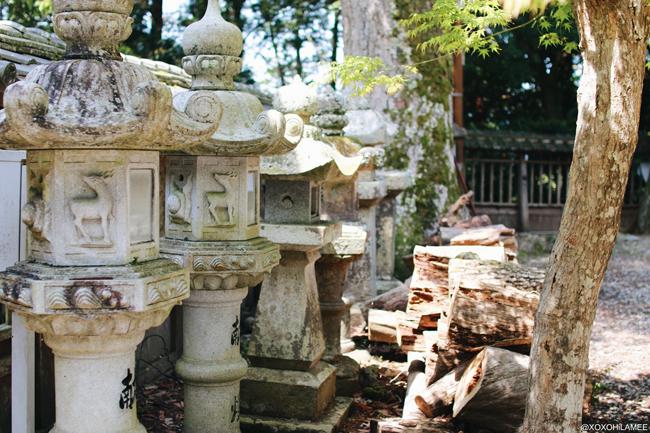 兵庫県丹波市柏原町観光 八幡神社 灯篭