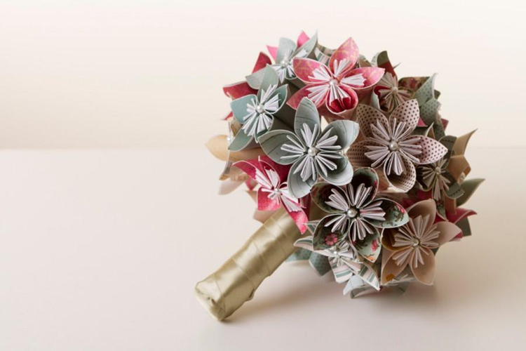 bouquet de papel