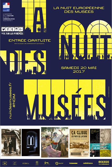 la Nuit des musées Pyrénées 2017 Béarn, Pays Basque et Hautes Pyrénées