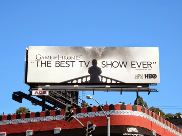 Game of Thrones Best TV Show Ever Emmy 2015 billboard