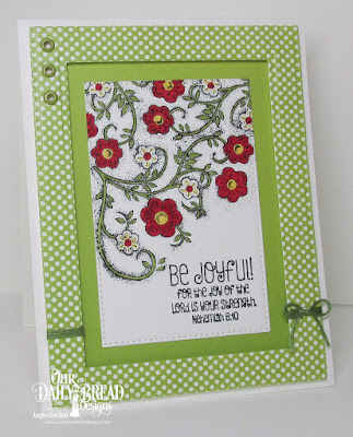 ODBD Be Joyful, ODBD Birthday Brights Paper Collection, ODBD Custom Pierced Rectangles Dies, Card Designer Angie Crockett