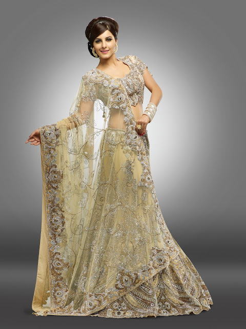 Silver and gold thread work impart a very swanky look to your persona