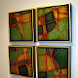 "Geometric Abstract Art Painting ""Jigsaw 2""by Colorado Mixed Media Artist Carol Nelson"