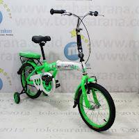 Sepeda Lipat Anak Maximus Folding 16 Inci Green