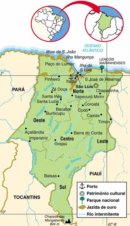 Maranhão | Mapas Geográficos do Maranhão