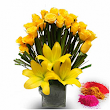 Yellow Roses with Lilies