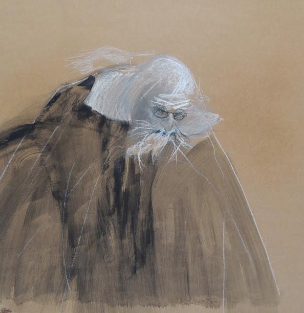 Glauco Capozzoli dibujo surrealista en Gaudifond Arte