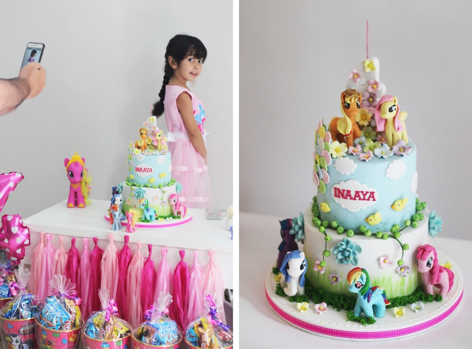 Happy 4th Birthday Inaaya My Little Pony Theme Family