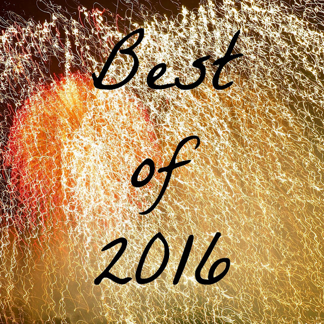 """Best of 2016"" text on fireworks background"