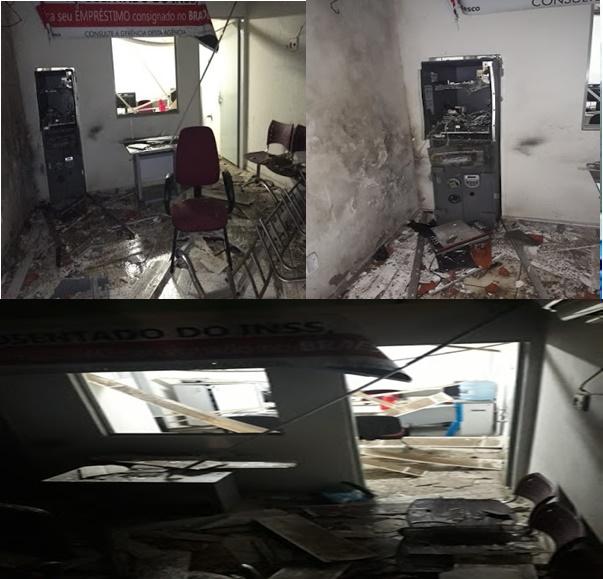 Quadrilha explode Agência  do Bradesco em Santana do Maranhão