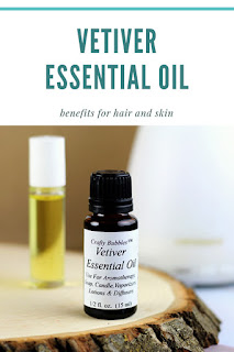 Benefits of vetiver essential oil and its uses.  How to use vetiver in a diffuser or blends or roller bottle to help with sleep.  Vetiver recipes for beauty benefits. How to use vetiver essential oil topical for skin and hair.  What is vetiver essential oil and where to apply it for acne or for skin problems.  Hair and skin benefits of vetiver.