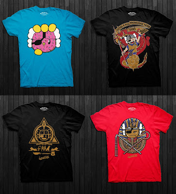 Loyal K.N.G. Fall 2012 T-Shirt Collection - Donut, Dragon Atama, Alpha Omega Atama & Pharaoh Atama