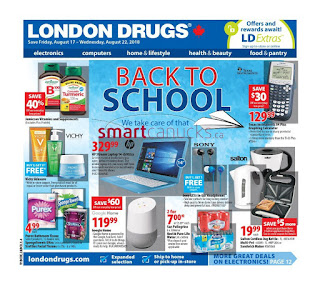 London drugs Canada flyer August 16 - 22, 2018