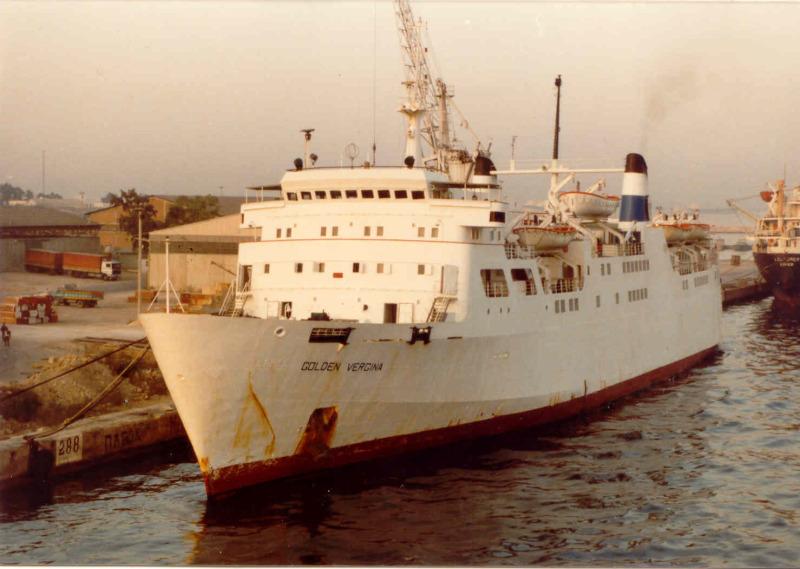 Με τι τράκαρε το πλοίο GOLDEN VIRGINA που τελικά βούλιαξε μετα απο χρονιά με το όνομα ΣΑΜΙΝΑ?