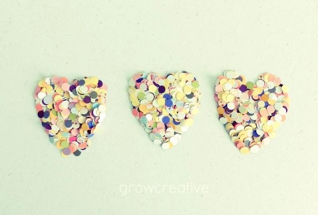 Valentine's confetti hearts