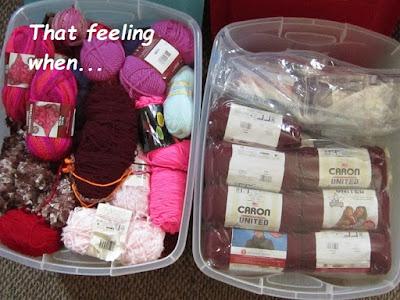 crochet, yarn stash