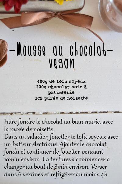 recette mousse au chocolat sans oeufs