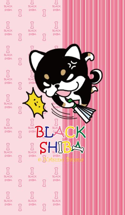 Negative black Shiba Pink