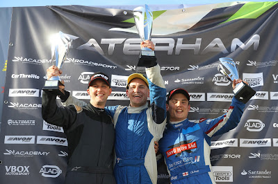 On the podium (l-r) James Murphy (p2), Me - Daniel French (p1), and Oli Pratt (p3)