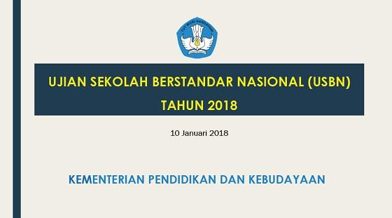 Tidak Ada Ujian Sekolah, USBN 2018 SMP SMA SMK Menguji Semua Mata Pelajaran