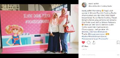 senang menjadi salah satu peserta masak bersama barbie chef stella lowis nurul sufitri blogger