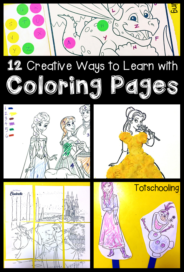 12 Creative Ways to Learn with Coloring Pages