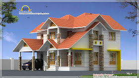 Beautiful Duplex house elevation - 196 Square Meter (2106 Sq. Ft.) - November 2011