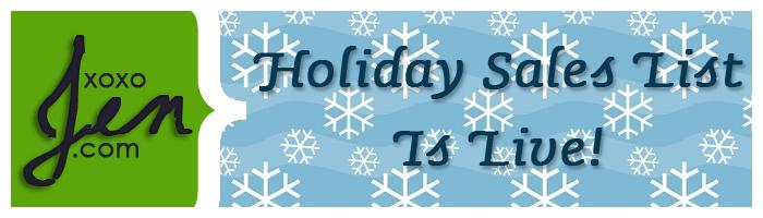 xoxoJen's Holiday Sales