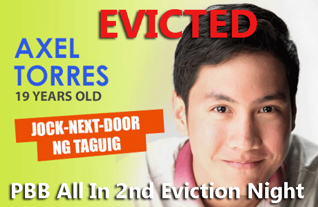Housemate Axel Torres Evicted in PBB All In 2nd Eviction Night