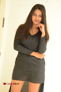 Actress Neha Deshpande Pictures in Black Short Dress at Bullet Movie Opening  0053.JPG