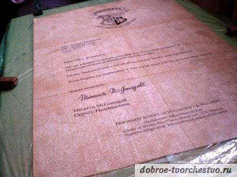 письмо из Хогвартса своими руками