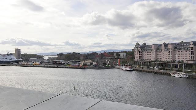 Opera w Oslo, opera, opera house, panorama, panorama miasta, morze, sea