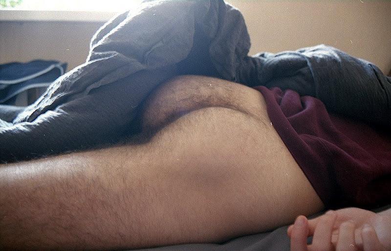 Sleeping straight nude men and black 3