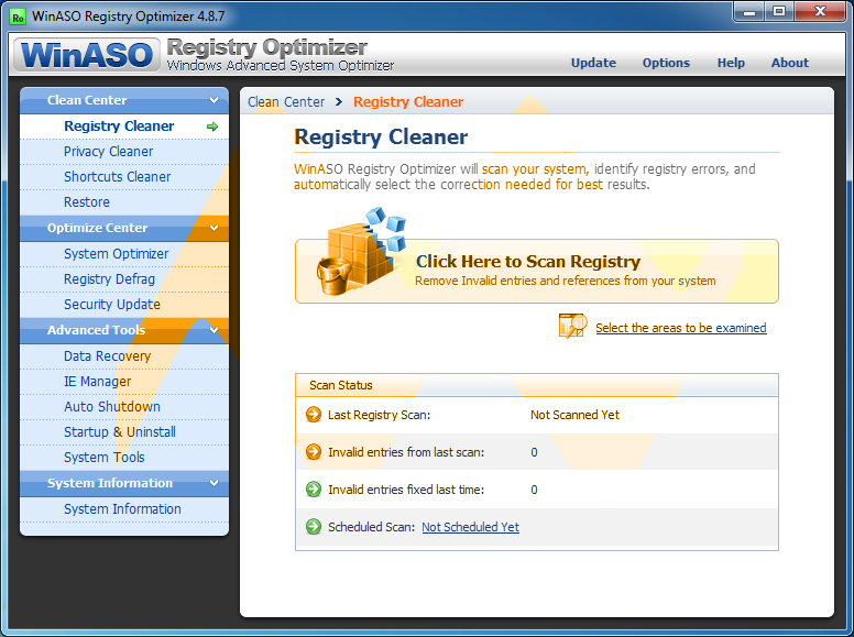 WinASO Registry Optimizer 4.8.7 Full Crack