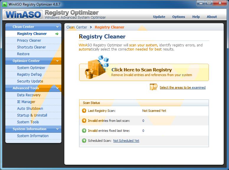 WinASO Registry Optimizer 4.8.7 Full Crack