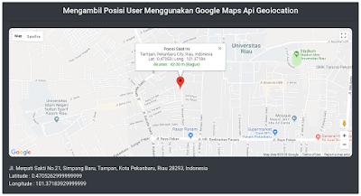 Cara Menampilkan Lokasi Pengguna Menggunakan Google Maps Geolocation 1
