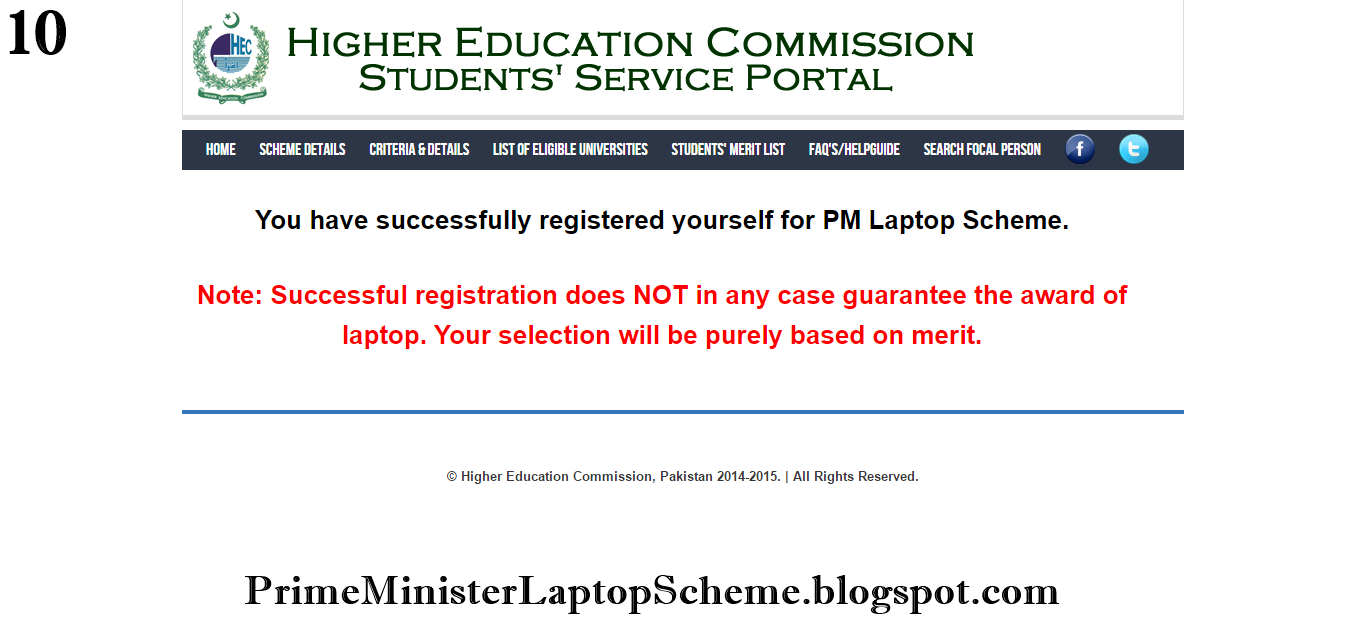 Prime Minister Laptop Scheme Phase 2 Registration Procedure