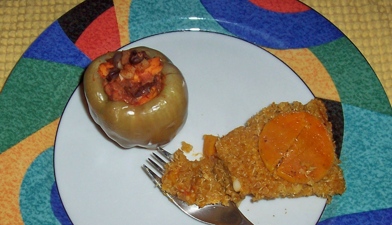 Cooking with Kary: Stuffed Bell Peppers and Quinoa Pie ...