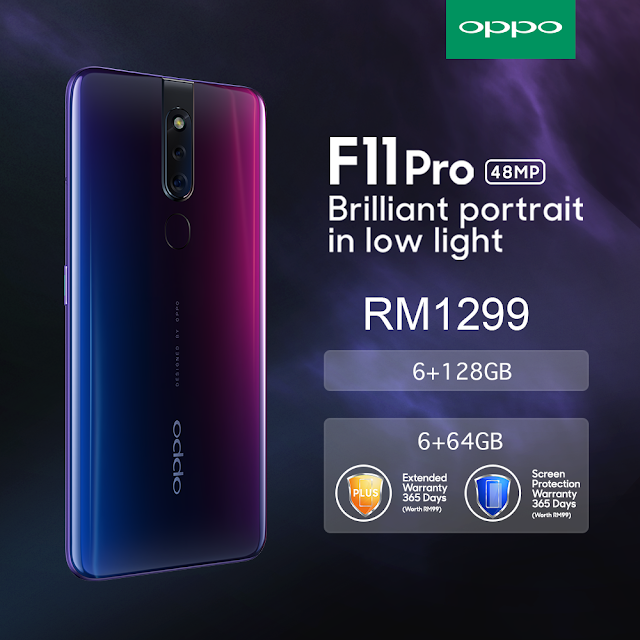 The OPPO F11 Pro 6GB RAM + 128GB ROM