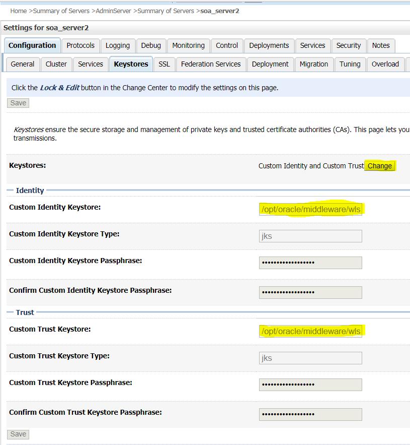 Talk SOA: Configure Custom Identity and Custom Trust Store for Weblogic