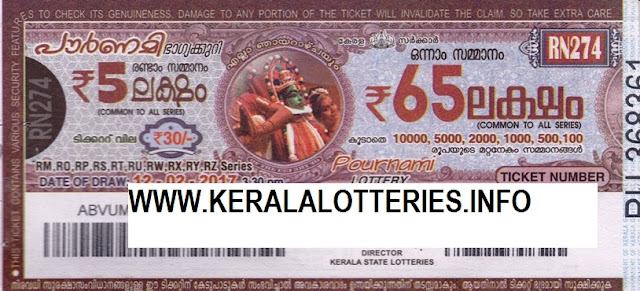 Full Result of Kerala lottery Pournami_RN-239