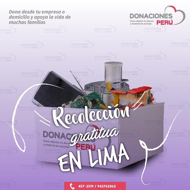 Recolección gratuita en Lima
