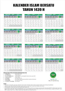Kalender Islam Dunia Bersatu Tahun 1439 H dan Bulan Muharram